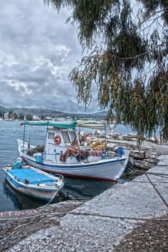 Fishing Boats in Volos, Greece Ancient Greek Theatre, Ancient Ruins, Ancient Greece, Places In Greece, Medieval Castle, Thessaloniki, Greece Travel, Countries Of The World, Fishing Boats