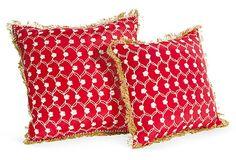 Silk Pillows, Pair on OneKingsLane.com