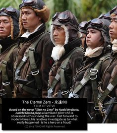 The Eternal Zero is one of Japan's biggest box office draws for 2013, featuring a stellar cast and even personally endorsed by the country's Prime Minister. While it may appear to be a nationalistic film which aims to arouse Japanese sentiments, the universal themes of love, friendship and family make it worth a look. It's hard not to mention The Wind Rises, which to me, regards the war with a different set of eyes.