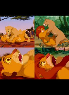 Nala? ...  Wha..?  Simba?!!!    Hmmmm she pinned you again :)