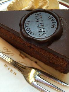 The real deal Sacher Torte from Hotel Sacher Vienna