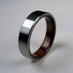wood and titanium band. Perfect wedding bands
