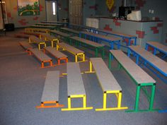 Easy risers were designed by seasoned youth and children's workers from their passion and desire to capture the attention of their listeners. Portability, stack ability and the multipurpose use of seating, music risers, discussion centers, craft stations are a quadruple bonus feature.
