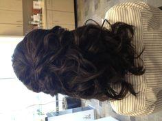 Half updo bridesmaid hair