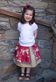 Everyday Chaos: Ta Da! Double layer skirt.