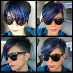 Blue an purple