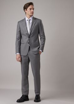 Fine materials and design for this Slim Fit Soho Line Half Canvas Suit In Wool And Cashmere Gabardine by Giorgio Armani Men. Take a look at the official online store now. Giorgio Armani, Soho, Derby, Armani Ties, Chevron, Smoking, Slim Fit Jackets, Silk Ties, Mens Suits