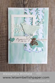 Birds and Blooms, Frosted Floral Specialty Designer Series Paper– Stampin' Up! Bee Cards, Cards Diy, Bird Theme, Sympathy Cards, Greeting Cards, Animal Cards, Handmade Birthday Cards, Card Sketches, Scrapbook Cards
