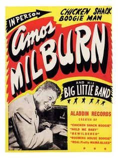 Rock and Roll Concert Posters | AP667 - Amos Milburn, Rock n Roll Concert Poster (30x40cm Art Print)