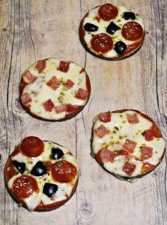 Minipizzas de beringela