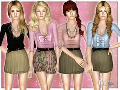 Casual Dresses for Teen by Cleotopia  http://www.thesimsresource.com/downloads/1181132