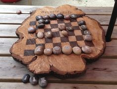 Pebble chess set