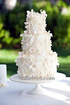 cakelava: Jennifer and Mitch's Wedding Cake
