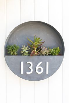 DIY House Number Planter and Rental Friendly Front Porch Decor - Sarah Hearts