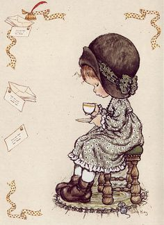 Dessin de Sarah Kay illustratrice et auteure australienne de livres pour enfants. Univers naïf et romantique.