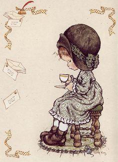 ✿Time For Coffee & Tea✿ Sarah Kay / Coffee Art / Coffee Shop Stuff Sarah Key, Holly Hobbie, Zentangle, Decoupage, Hobbies To Try, Hobby Horse, Cute Images, Love Painting, Sweet Memories