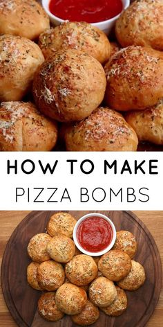 Snacks Recipes Is there honestly anything better than pizza? Now you can have little pizza ball… Pizza Snacks, Snacks Für Party, Appetizers For Party, Appetizer Recipes, Snack Recipes, Cooking Recipes, Pizza Recipes, Recipes Dinner, Healthy Recipes