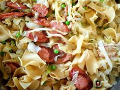 Polish Cabbage and Noodles, Haluski. A very comforting and hearty meal with a delicious garlic flavor. Cabbage Recipes, Pork Recipes, Crockpot Recipes, Cooking Recipes, Pasta Recipes, Haluski Recipe, Cabbage And Noodles, Cabbage Soup