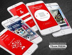 Red Bull mobile App CMS - Custom CMS for mobile App development - including real time preview App-Controler.
