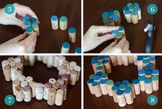 Easy DIY Painted Cork Wreath /// By Design Fixation