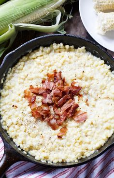 Country-Fried Skillet Corn with bacon. Corn Recipes, Side Dish Recipes, Veggie Recipes, Cooking Recipes, Amish Recipes, What's Cooking, Southern Side Dishes, Southern Recipes