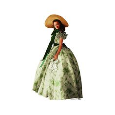 Gone With the Wind - Scarlett O' Hara Lifesize Standup Cardboard... ($40) ❤ liked on Polyvore featuring home and home decor