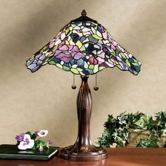 pretty floral tiffany lamp