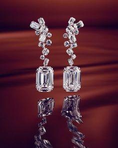 diamond earrings One of a kind Graff Diamonds earrings today in Telegraph Luxury. Diamond Drop Earrings, Silver Drop Earrings, Diamond Studs, Diamond Pendant, Diamond Jewelry, Silver Jewelry, Graff Jewelry, Solitaire Diamond, Gold Jewellery