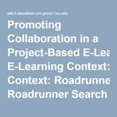 Promoting Collaboration in a Project-Based E-Learning Context: Roadrunner Search Discovery Service