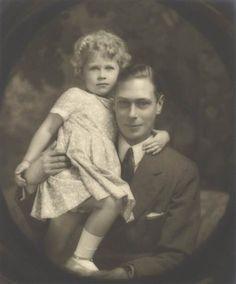 Albert, Duke of York, and his daughter, Princess Elizabeth, in July 1929.                        (The Royal Collection via EPA)