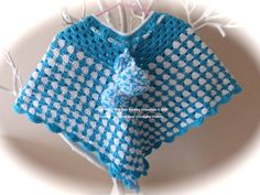 Crocheted Poncho - hand made to order by PitterPatterTinyFeet on Etsy