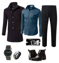 """""""Untitled #5"""" by bella0678 on Polyvore featuring LE3NO, Topman, Stacy Adams, Skagen, Banana Republic, men's fashion and menswear"""