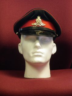 Royal Artillery No 1 dress peaked cap (OR) with QC badge [2] | eBay
