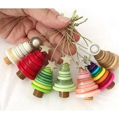 Button Christmas ornaments..