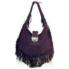 Jimmy Choo Purple Fringe Hobo http://www.consignofthetimes.com/product_details.asp?galleryid=8563