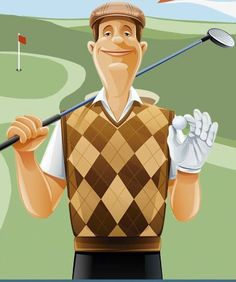 Our pro golfer and lovely, Peter Spain, from Golf Booking Now.