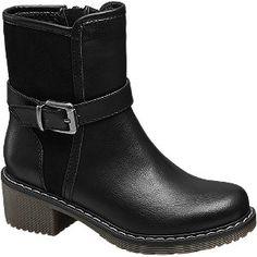 #Graceland #Boots #schwarz für #Kinder Schuhspitze rund Farbe schwarz Laufsohle TPR Obermaterial PU Microfaser Innenmaterial Fleece