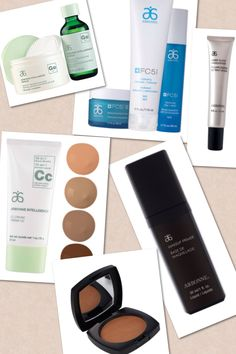 ESSENTIALS for perfect flawless skin! FC5 skin care regiment, GENIUS for spots/acne/fine lines, sheer glow highlighter, bronzer, 10 in 1 CC cream and make up primer! To order Arbonne products, go to: http://www.redonnaray.myarbonne.com/