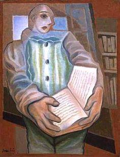 Pierrô com livro, cerca 1924 Juan Gris (Espanha 1887-1927) Óleo sobre tela,  84 x 70 cm Tate Gallery, Londres