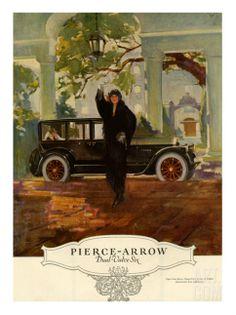 1925 Ad Vintage Pierce Arrow Duel Valve Six Luxury Closed Car Automobile Vintage Advertisements, Vintage Ads, Vintage Prints, Vintage Posters, Vintage Designs, Classic Motors, Classic Cars, 1920s Car, Art Deco