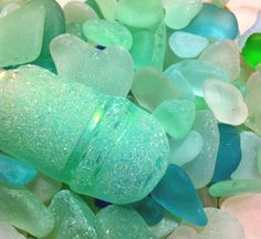 Sea glass inspiration for office color palette