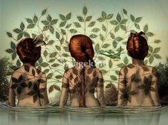 Sisters Art Prints by Catrin Welz-Stein - Shop Canvas and Framed Wall Art Prints at Imagekind.com
