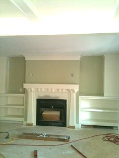 updated Craftsman style fireplace