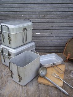 Vintage Czech Field Kitchen Set Camping Mess Kit