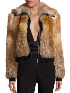 A.L.C. - Boyce Fox Fur & Suede Jacket
