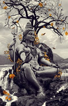 "Lord Shiva, a Hindu deity, the Supreme God, ""the Destroyer"", or ""the Transformer""   Shiva has many benevolent and fearsome forms. At the highest level Shiva is limitless, transcendent, unchanging and formless.He is depicted as an omniscient Yogi who lives an ascetic life on Mount Kailash, as well as a householder with wife Parvati and his two children, Ganesha and Kartikeya and in fierce aspects, he is often depicted slaying demons. Shiva is also regarded as the patron god of yoga and arts."