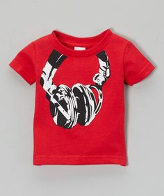 This Red Headphones Tee - Infant, Toddler & Boys by Micro Me is perfect! #zulilyfinds