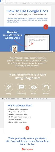 How To Use Google Docs To Simplify Your Blogging And Marketing: Infographic