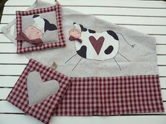 set cucina con mucca - my design by countrykitty, via Flickr