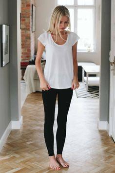 Czarne legginsy - Spodnie - MLE Collection
